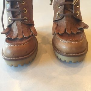 66005bcceb1 Tory Burch Shoes - Tory Burch Howard Wedge hiking boot size 7.5